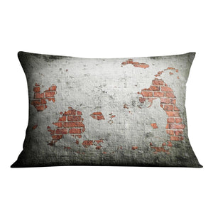 Grunge wall background Cushion - Canvas Art Rocks - 4