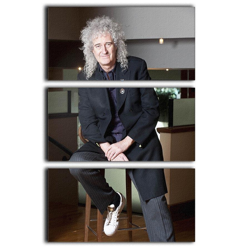 Guitarist Brian May of Queen 3 Split Panel Canvas Print - Canvas Art Rocks - 1