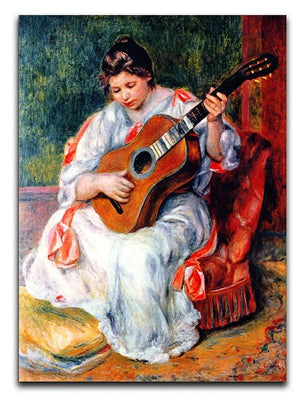 Guitarist by Renoir Canvas Print or Poster  - Canvas Art Rocks - 1