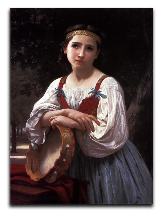 Gypsy Girl with a Basque Drum By Bouguereau Canvas Print or Poster  - Canvas Art Rocks - 1