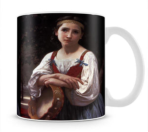 Gypsy Girl with a Basque Drum By Bouguereau Mug - Canvas Art Rocks - 1