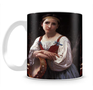 Gypsy Girl with a Basque Drum By Bouguereau Mug - Canvas Art Rocks - 2