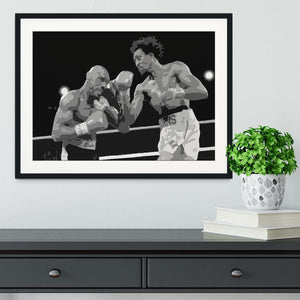 Hagler vs Hearns Framed Print - Canvas Art Rocks - 1