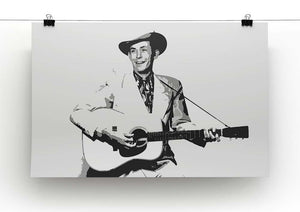 Hank Williams Canvas Print or Poster - Canvas Art Rocks - 2