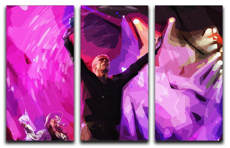 Happy Mondays 3 Split Panel Canvas Print - Canvas Art Rocks - 1