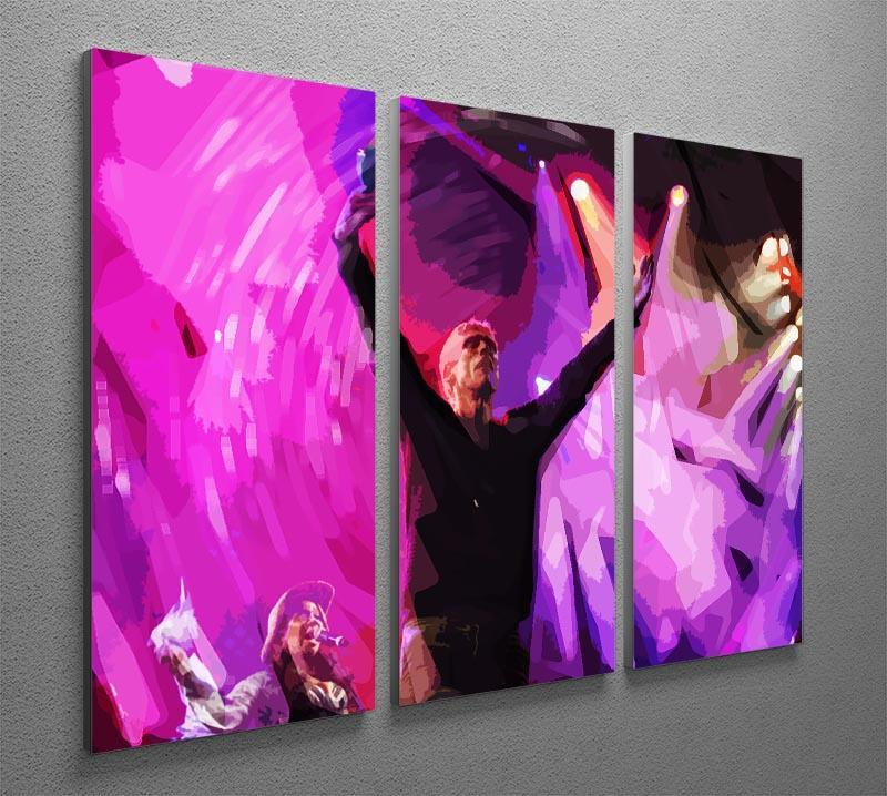 Happy Mondays 3 Split Panel Canvas Print - Canvas Art Rocks - 2