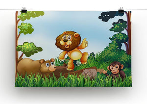 Happy animals living in the jungle Canvas Print or Poster - Canvas Art Rocks - 2