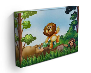 Happy animals living in the jungle Canvas Print or Poster - Canvas Art Rocks - 3