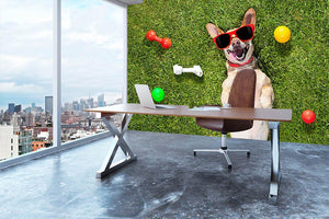 Happy chihuahua terrier dog in park Wall Mural Wallpaper - Canvas Art Rocks - 3
