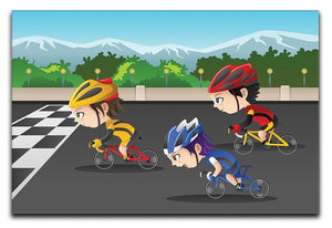 Happy kids in a race Canvas Print or Poster  - Canvas Art Rocks - 1