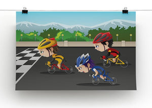 Happy kids in a race Canvas Print or Poster - Canvas Art Rocks - 2