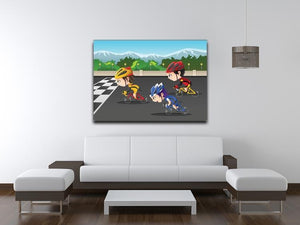 Happy kids in a race Canvas Print or Poster - Canvas Art Rocks - 4