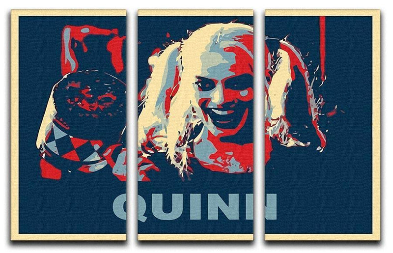 Harley Quinn Pop Art 3 Split Panel Canvas Print - Canvas Art Rocks - 1