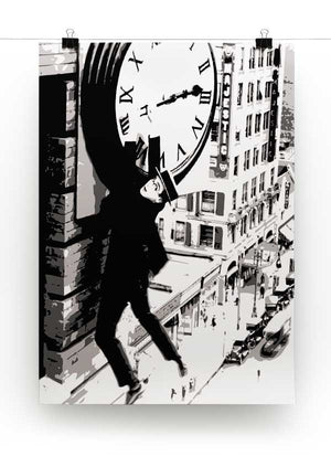 Harold Lloyd Safety Last Print - Canvas Art Rocks - 2
