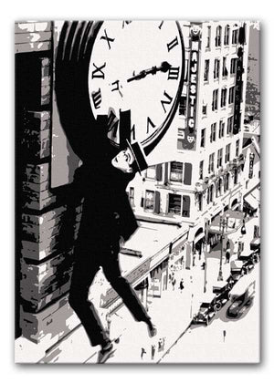 Harold Lloyd Safety Last Print - Canvas Art Rocks - 1