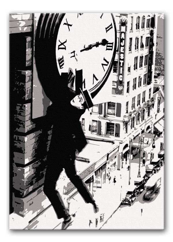 Harold Lloyd Safety Last Canvas Print or Poster