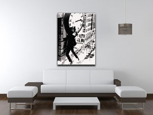 Harold Lloyd Safety Last Canvas Print & Poster - US Canvas Art Rocks