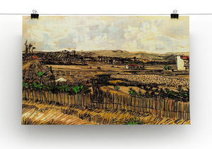 Harvest in Provence at the Left Montmajour by Van Gogh Canvas Print & Poster - Canvas Art Rocks - 2