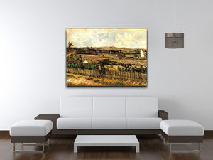 Harvest in Provence at the Left Montmajour by Van Gogh Canvas Print & Poster - Canvas Art Rocks - 4