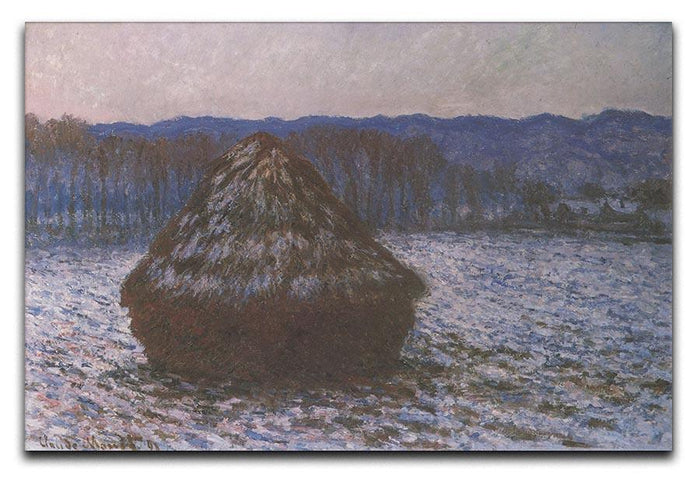 Haystacks 2 by Monet Canvas Print or Poster