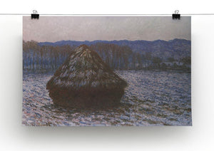 Haystacks 2 by Monet Canvas Print & Poster - Canvas Art Rocks - 2