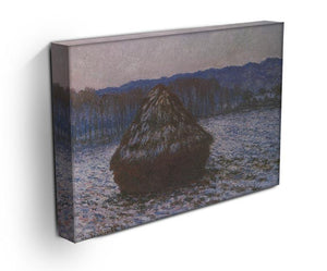 Haystacks 2 by Monet Canvas Print & Poster - Canvas Art Rocks - 3