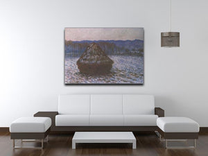 Haystacks 2 by Monet Canvas Print & Poster - Canvas Art Rocks - 4