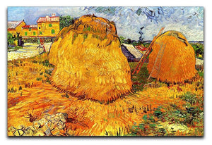 Haystacks in Provence by Van Gogh Canvas Print & Poster  - Canvas Art Rocks - 1