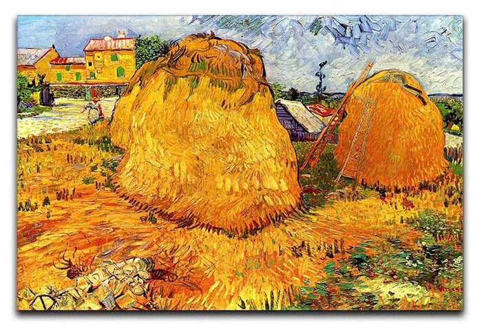Haystacks in Provence by Van Gogh Canvas Print or Poster