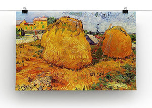 Haystacks in Provence by Van Gogh Canvas Print & Poster - Canvas Art Rocks - 2