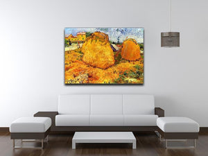 Haystacks in Provence by Van Gogh Canvas Print & Poster - Canvas Art Rocks - 4