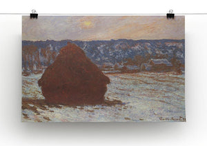 Haystacks snow covered the sky by Monet Canvas Print & Poster - Canvas Art Rocks - 2
