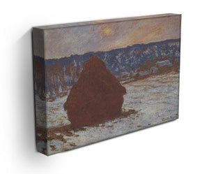 Haystacks snow covered the sky by Monet Canvas Print & Poster - Canvas Art Rocks - 3