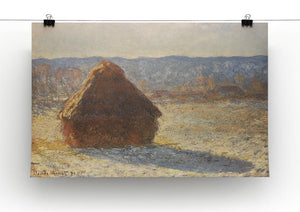 Haystacks snow morning by Monet Canvas Print & Poster - Canvas Art Rocks - 2