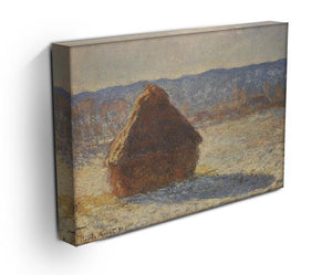 Haystacks snow morning by Monet Canvas Print & Poster - Canvas Art Rocks - 3