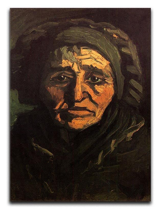 Head of a Peasant Woman with Greenish Lace Cap by Van Gogh Canvas Print or Poster