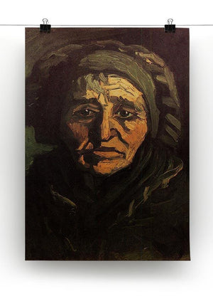 Head of a Peasant Woman with Greenish Lace Cap by Van Gogh Canvas Print & Poster - Canvas Art Rocks - 2
