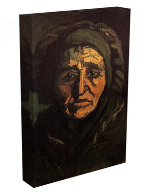 Head of a Peasant Woman with Greenish Lace Cap by Van Gogh Canvas Print & Poster - Canvas Art Rocks - 3