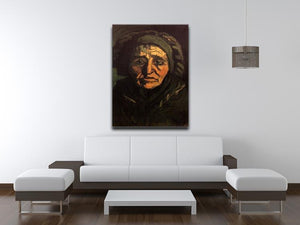 Head of a Peasant Woman with Greenish Lace Cap by Van Gogh Canvas Print & Poster - Canvas Art Rocks - 4