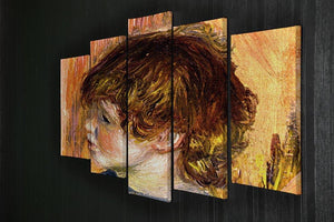 Head of a young girl by Renoir 5 Split Panel Canvas - Canvas Art Rocks - 2