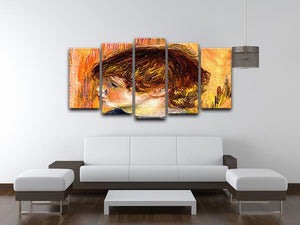 Head of a young girl by Renoir 5 Split Panel Canvas - Canvas Art Rocks - 3