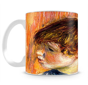 Head of a young girl by Renoir Mug - Canvas Art Rocks - 2