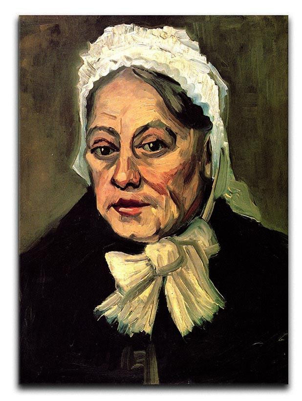 Head of an Old Woman with White Cap The Midwife by Van Gogh Canvas Print & Poster  - Canvas Art Rocks - 1