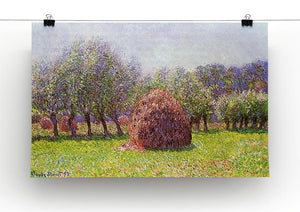 Heap of hay in the field by Monet Canvas Print & Poster - Canvas Art Rocks - 2