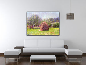 Heap of hay in the field by Monet Canvas Print & Poster - Canvas Art Rocks - 4