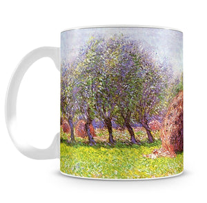 Heap of hay in the field by Monet Mug - Canvas Art Rocks - 4