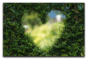 Encarved Heart In Bush Print - Canvas Art Rocks - 1