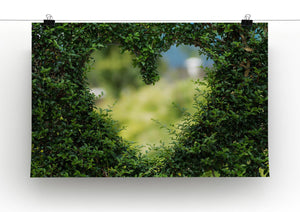 Encarved Heart In Bush Print - Canvas Art Rocks - 2