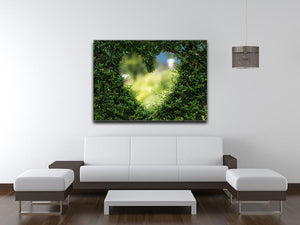 Encarved Heart In Bush Print - Canvas Art Rocks - 4