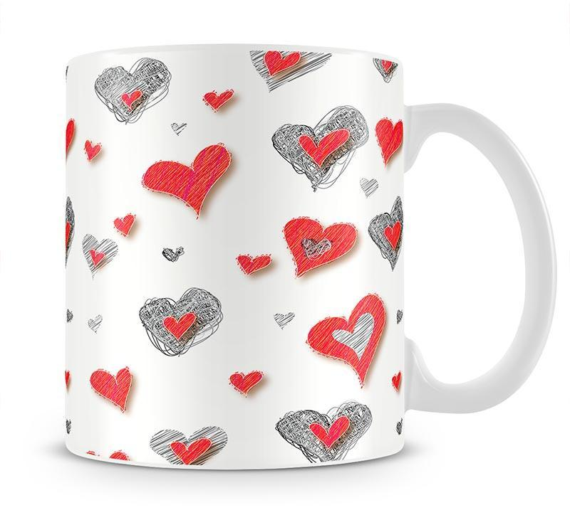 Heart Pattern Mug - Canvas Art Rocks - 1